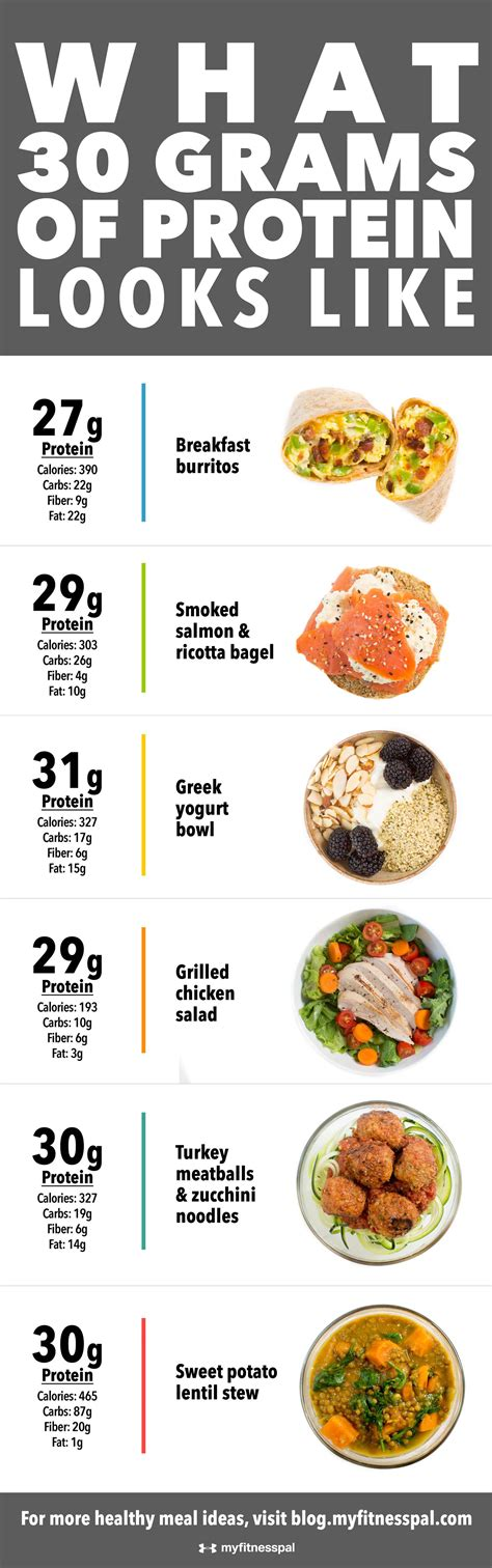 protein 30 grams what the ideal amount of protein looks like infographic