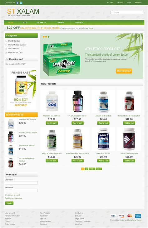 drupal themes wellness xalam premium drupal ecommerce theme for health products