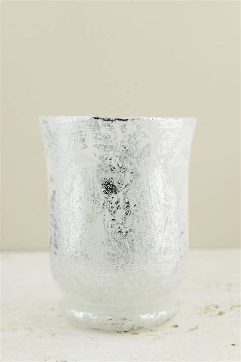 Mercury Glass Hurricane Vase by Frosted Mercury Glass Hurricane Vase Candleholder 6 Quot