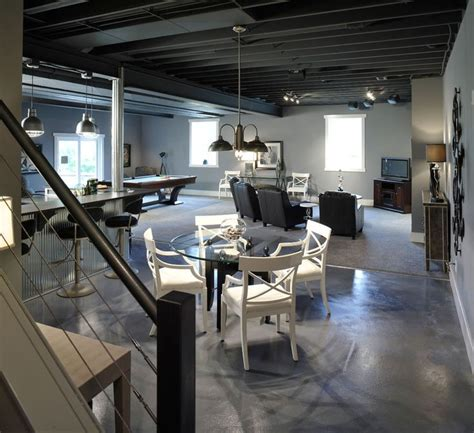 loft style basement industrial basement