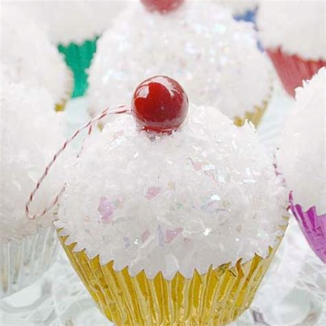 styrofoam ball cupcake ornaments art craft with