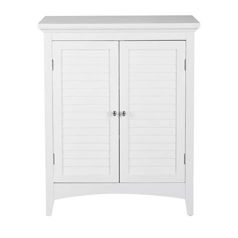 Floor Cabinet With Doors Home Fashions Simon 26 In W X 13 In D X 32 In H Bathroom Linen Storage Floor Cabinet
