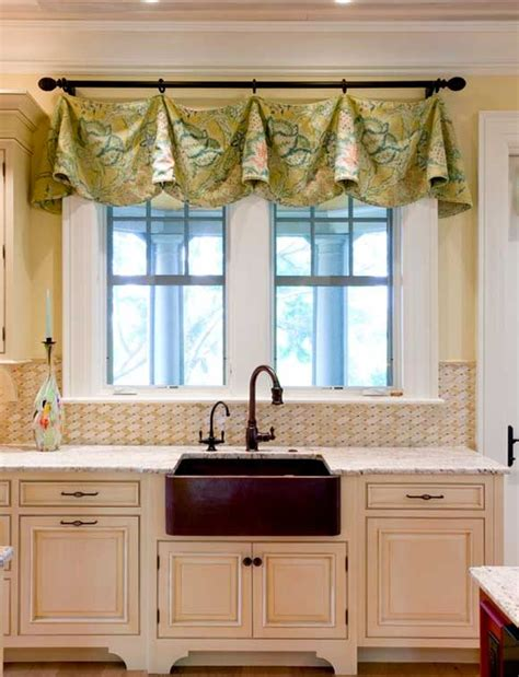 kitchen valances ideas curtains for the kitchen 34 photo ideas for inspiration