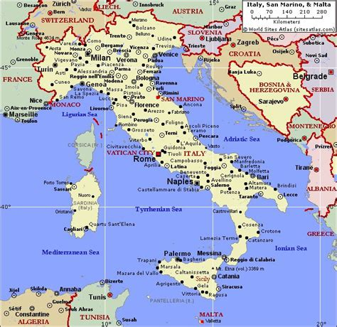 map of and italy image detail for political map of italy and malta world atlas casalnuovo monterotaro