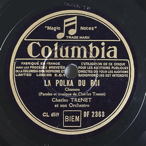 cafe la matrice charles trenet discographie 78 tours label columbia