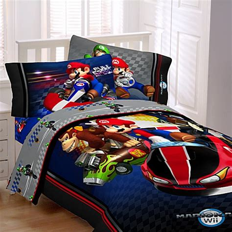 super mario bros bedding full canada buy mario brothers mario kart wii 174 comforter set from bed bath beyond
