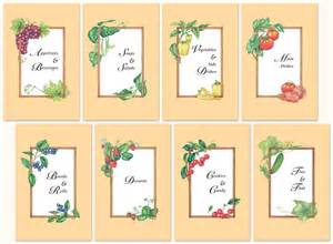 8 best images of free printable recipe divider templates