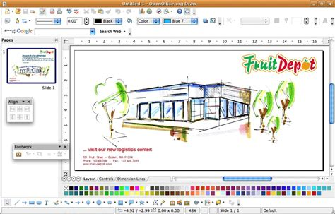 open office draw the free graphics editing software from open office