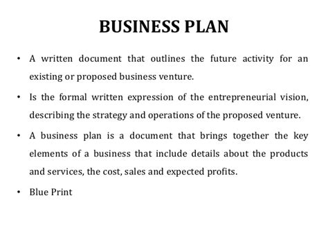 business plan entrepreneurship s