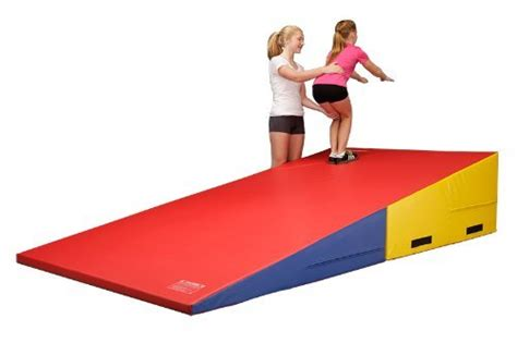 Gymnastics Cheese Mat by Greatgymats Large Folding Gymnastics Incline Cheese Wedge