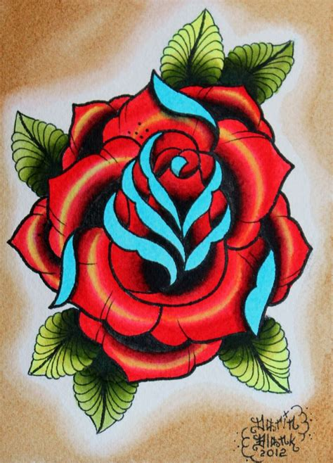 rose flash tattoo traditional flash http www