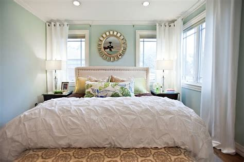 light blue walls blue green and gold accents white bedding home decor
