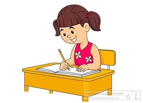student in desk clipart student writing at desk clipart clipartsgram