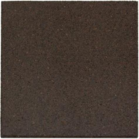 envirotile 18 in x 18 in earth rubber flat profile paver