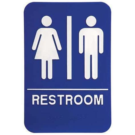 Ada Bathroom Sign by Ada Signs