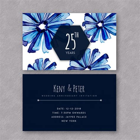 Wedding Anniversary Cards Vector Free by Anniversary Invitation Card Vector Free Images