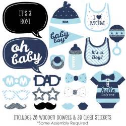 hello little one blue and silver boy baby shower photo