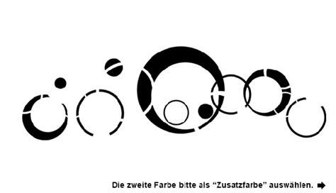Wandgestaltung Mit Kreisen by Wandtattoo Ornament Aus Kreisen Wandtattoo
