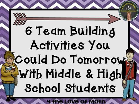 activities for high school students 6 team building activities you could do tomorrow