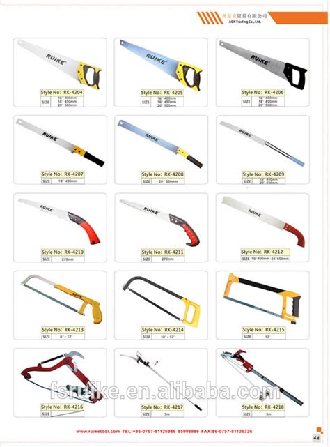 types of saws images