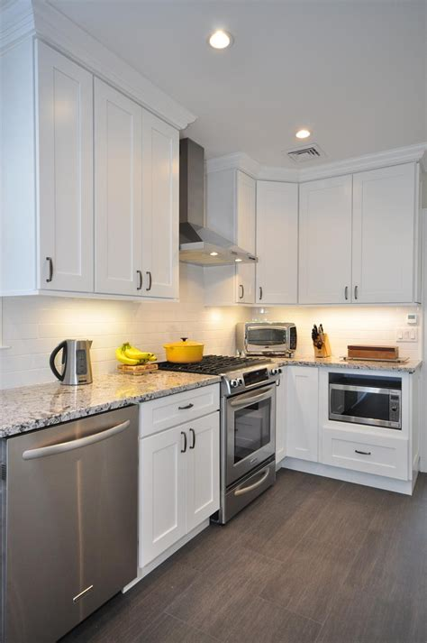 Design Ideas For Galley Kitchens by Aspen White Shaker Ready To Assemble Kitchen Cabinets