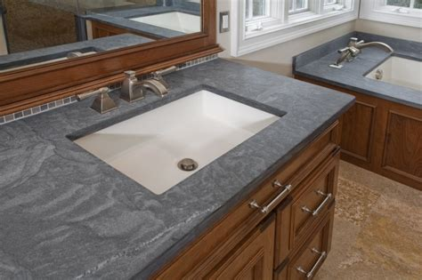 Pietra Cardosa Countertop by The Vanity Features Kohler Kathryn Undermount Sinks Brushed Nickel Delta Lavatory