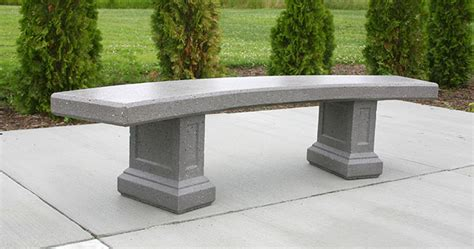 concrete curved bench curved morrison bench b5918 doty concrete