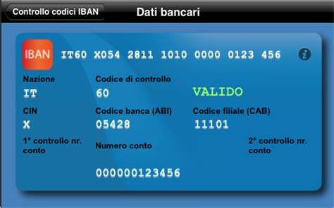 controllo iban iban check controlla la validit 224 dei codici iban iphone