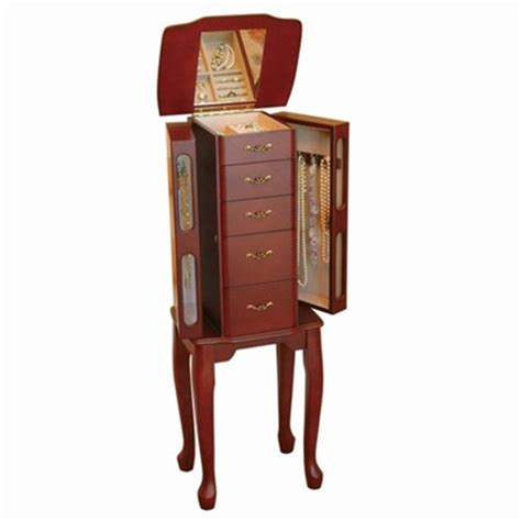 standing jewelry box armoire armoire jewelry box cherry jewelry armoire