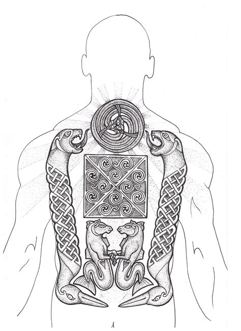 pictish tattoo designs pictish based on sarcophagus carving picts