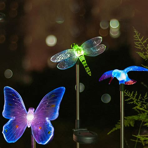 led solar light outdoor dragonfly butterfly bird type
