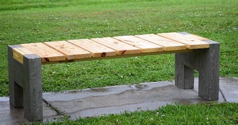 making concrete benches making a modern outdoor concrete wood bench sia magazine