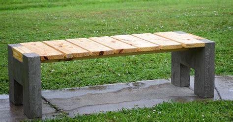 make your own garden bench making a modern outdoor concrete wood bench sia magazine