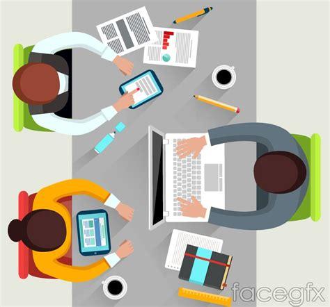 creative desk top vector free