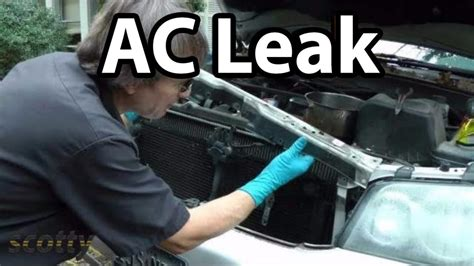fix small ac refrigerant leaks   car youtube