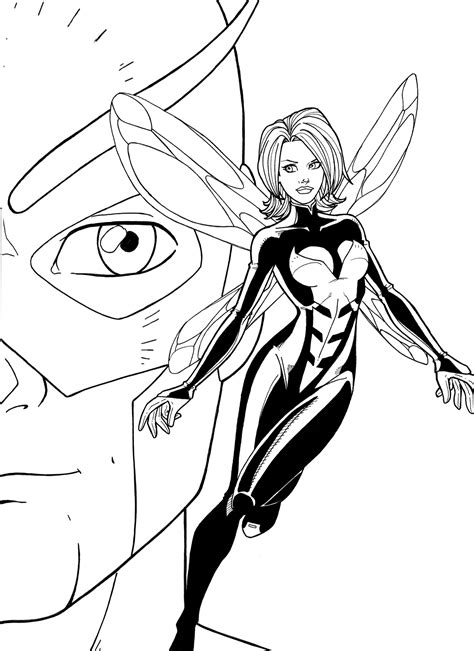 marvel giant coloring pages wasp and giant man by jamiefayx on deviantart