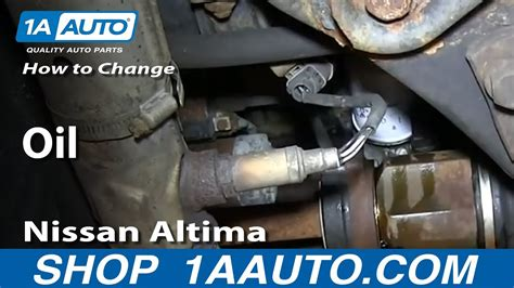 How To Replace Engine Oil 98 01 Nissan Altima Youtube