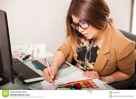 cool graphic designer at work stock photo image 49731930