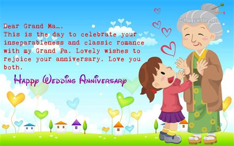 Wedding Anniversary Wishes For Grandparents by Anniversary Wishes For Grandparents From Grandchildren