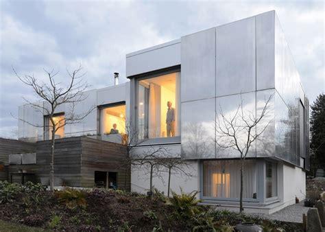 aluminium haus moderne fassade mit spiegelung 12 eindrucksvolle designs