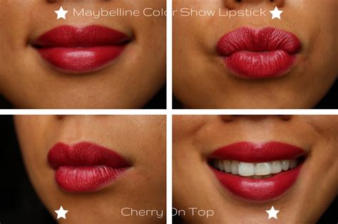 Lipstick Maybelline Colour Show maybelline color show lipstick review swatches