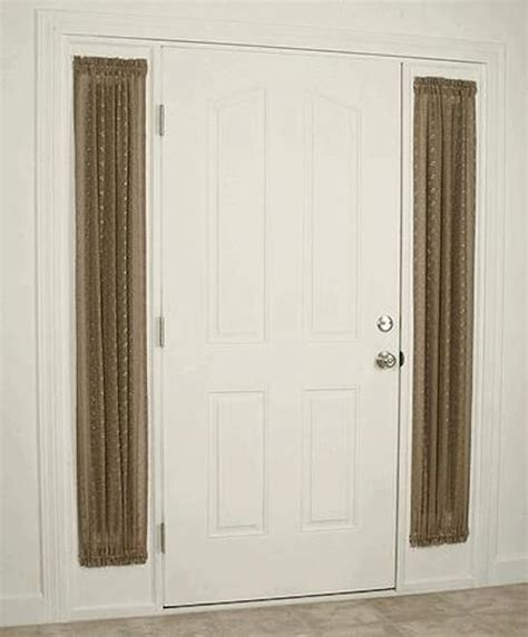 Side Panel Window Curtains Inspiration Looking Sidelight Curtains In Entry Style With Curtain Panels Next To Front Door