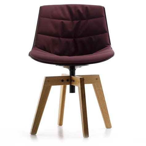 Mdf Italia Chair by Upholstered Flow Chair By Mdf Italia With Oak Base