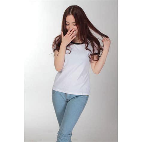 Promo Murah Kaos Polos Katun Wanita O Neck 81401b T Shirt S kaos polos katun wanita o neck size m 86201 t shirt black jakartanotebook