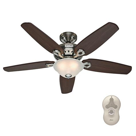 Brushed Nickel Ceiling Fan Light Kit Newsome 52 In Indoor Brushed Nickel Ceiling Fan With Light Kit 53318 The Home Depot