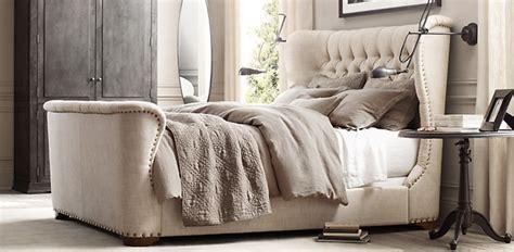 restoration hardware dog bed churchill fabric wing bed rh