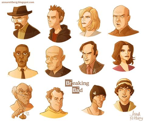 colors in breaking bad breaking bad color caricatures by aerettberg on deviantart