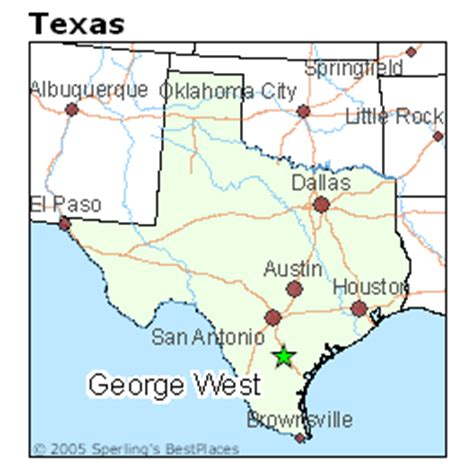 george west texas map best places to live in george west texas