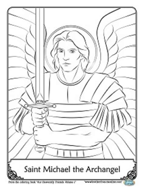 Herald Store Free St Michael Coloring Pages St Michael Coloring Page