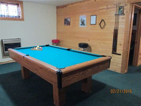 regulation size pool table log cabins hocking cottages and cabins